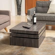 amazon com haring square rotating wood coffee table kitchen u0026 dining