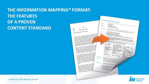 information mapping the information mapping format a proven content standard