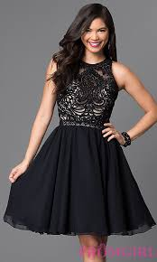 knee length lace bodice homecoming dress promgirl