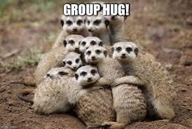 Group Hug Meme - animals hugging imgflip