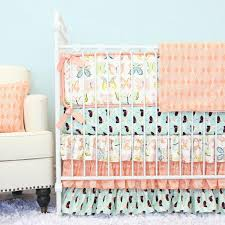 coral crib bedding peach baby bedding caden lane