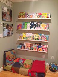 ikea ledges book shelves using ikea photo ledges plus a crib mattress for a