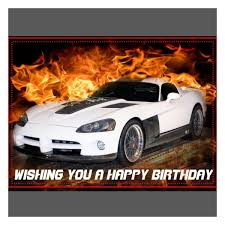 happy birthday wishes with cars