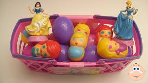 easter eggs filled with toys opening disney princess egg basket eggs filled with toys