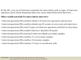 How To Answer Resume Questions Download Nursing Interview Questions And Answers