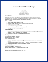 insurance resume exles insurance resume objective exles exles of resumes