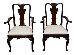 Pictures Of Queen Anne Chairs by Statton Old Towne Cherry Queen Anne Chairs Pair Chairish