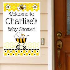 bee baby shower bumble bee baby shower personalized door greeter