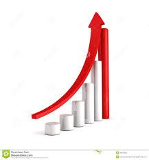 croissance rouge d u0027affaires d u0027histogramme avec l u0027augmentation vers