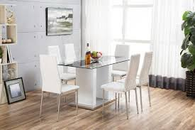 Gloss Dining Tables Florence White High Gloss Dining Set Furniturebox