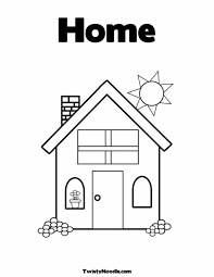 welcome home coloring page high quality pages free to print