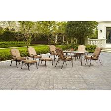 outdoor patio table seats 10 mainstays woodacre 10 piece patio dining and leisure set tan seats