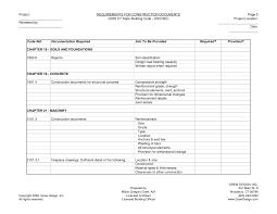 construction documents checklist
