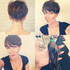front and back views of chopped hair best 25 brown pixie cut ideas on pinterest short cropped hair