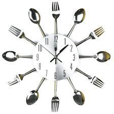 wall clocks silverware utensils kitchen wall clock kitchen