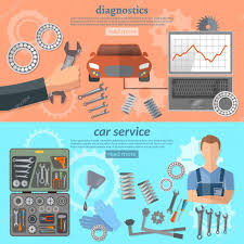 box car clipart car service banner mechanic auto service center tool box u2014 stock