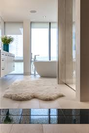 designer bathroom rugs the best places for a sheepskin rug abode