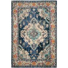 Teal And Gold Rug 7 X 9 Area Rugs Rugs The Home Depot
