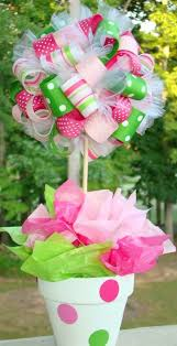 Candy Topiary Centerpieces - lets get crafty 10 cute diy baby shower centerpieces