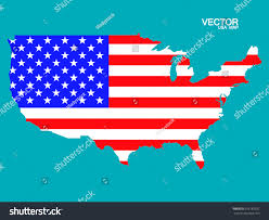 Map Of United States Of America by Map United States America Flag Vector Stock Vector 316183931