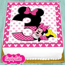 minnie mouse birthday cake precut edible icing 7 5 inch minnie mouse 3rd happy birthday cake