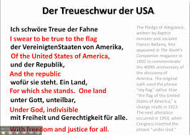 Texas Flag Pledge Pledge Of Allegiance In German Www Germanforspalding Org Youtube