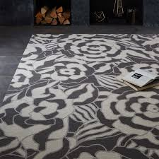 graphic floral wool rug west elm
