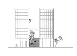 side elevation side elevation of modern building stock vector illustration of