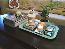 Decorative Coffee Tables Our Coffee Table Ikea Tray Plant Lantern And Candle