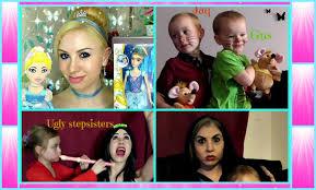 Cinderella Ugly Stepsisters Halloween Costumes Cinderella Makeup Hair U0026 Dress Transformation Ugly Stepsisters