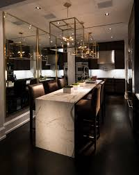 Modern Kitchens With Islands by A Gorgeous Kitchen With Rich Brown Wood And Stunning Lanterns To