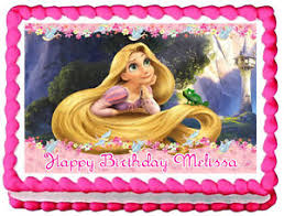 tangled cake topper tangled rapunzel birthday image edible cake topper decoration ebay