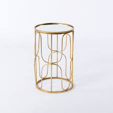 society gold accent tables u2013 bella acento
