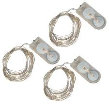 battery operated led string lights waterproof 3 pk waterproof battery operated mini led string lights