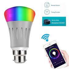 alexa controlled light bulbs smart led bulb alexa google home wifi hue light b22 rgbw colour