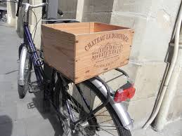 photo series wine bicycles and wood boxes in bordeaux