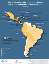 Map Latin America Inter American Dialogue Latin American U0026 Caribbean Remittances 2015