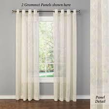 Sheer Grommet Curtains with Leola Sheer Grommet Curtain Panel