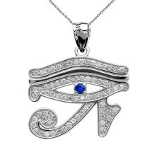sapphire chain necklace images White gold diamond and sapphire eye of horus pendant necklace jpg