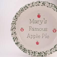 personalized pie plate ceramic apple pie dish personalized pie plate ceramic apple pie