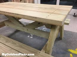 Building A Wood Picnic Table by Diy Children Picnic Table Myoutdoorplans Free Woodworking