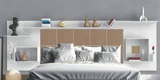chambre gain de place tête de lit avec rangements