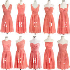 bridesmaid dresses coral coral bridesmaid dress bridesmaid dress mismatched