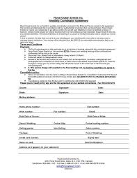 Wedding Day Planner Event Planner Contract Example Nfgaccountability Com