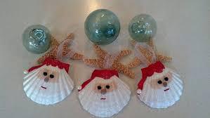 santa seashell ornament decor nautical