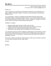 Email Job Application Cover Letter by Best Administrative Assistant Cover Letter Examples Livecareer