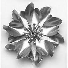metal flowers anemone flower 0 625 h x 2 375 w frankmorrow