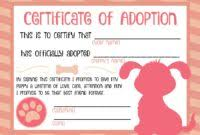 certificate pet birth certificate template u2013 best u0026 professional