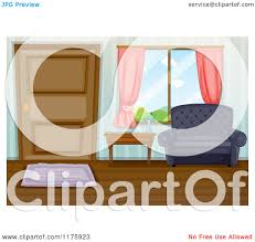 illustration of a boy crying in living room royalty free cliparts