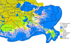 louisiana map areas major ecosystems and regions acadian pontchartrain nawqa